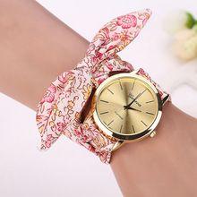Relógios Das Mulheres Jacquard Floral Pano Relógio de Marcação De Quartzo Saat Senhoras Relógio Pulseira de relógio de Pulso Relógio Pulseira Relogio feminino(China)
