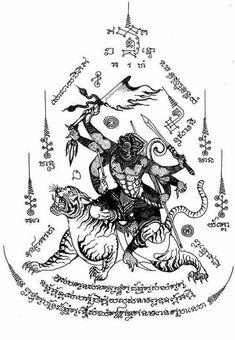 Back piece 2018 Hanuman Tattoo, Yantra Tattoo, Sak Yant Tattoo, Tatoo Thai, Muay Thai Tattoo, Cambodian Tattoo, Khmer Tattoo, Back Tattoos, Body Art Tattoos