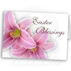 Pink Lily Easter Greeting Card--Great for friends and family.