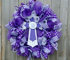ON SALE......Super Cool TCU wreath by ourinspiredcreations on Etsy, $65.00