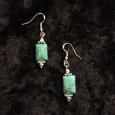 Final Markdown!!Dainty turquoise earrings Lovingly handmade by me. Dainty turquoise earrings with .925 Sterling silver hooks. Jewelry Earrings