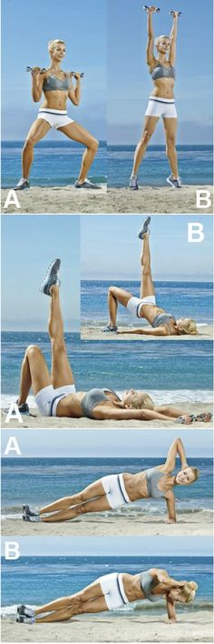 Beach Exercise - if only I had a beach that was under 4 hours away....