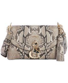 9518725c340f2 Guess Gracelyn Crossbody Flap - Gray Guess Bags