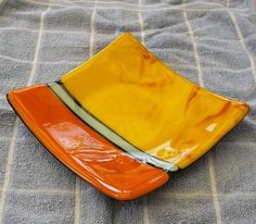 Fused Glass Dish by AnnakesGarden on Etsy, $31.00