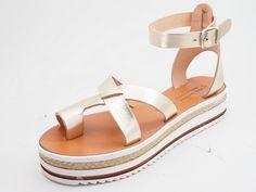 Griechische Leder Sandalen Handarbeit aus Kreta Griechenland ( ESPADRILLES)