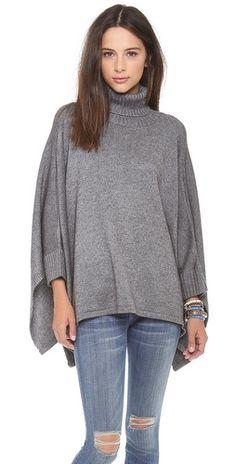 fab28a176a2c Ami Dans La Rue Solid Poncho Sweater   SHOPBOP Poncho Sweater, Sweater  Coats, Cashmere