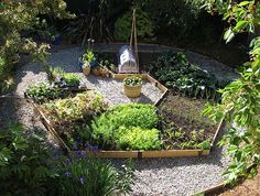 Raised compact Garden hexagon bed.  I would love to do this in a yard someday!