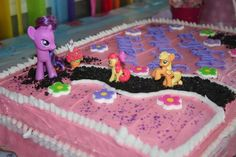 Cute My Little Pony cake...easy and homemade