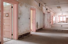 pale pastel pink rosy hospital psych ward
