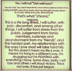 """No, I will not """"Get well soon."""" That's what """"Chronic Pain"""" means."""