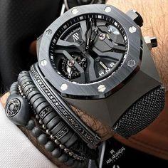 Mens cuff bracelet set 6 variation in 2019 clothing мужские Stylish Watches, Luxury Watches For Men, Cool Watches, Best Watches For Men, Rolex Watches, Audemars Piguet Watches, Skeleton Watches, Fashion Couple, Patek Philippe