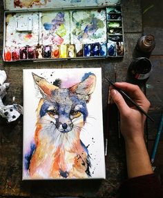 Artist Paints Beautiful Watercolor Portraits Of Animals She Sees In The Woods - DesignTAXI.com