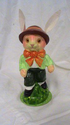 "7"" INO SCHALLER -Boy Easter bunny Candybox - BAVARIA- Germany"