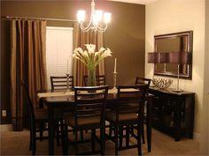 Apartment Living Room Themes Dressers Ideas For 2019 Brown Living Room Paint, Dining Room Paint, Dining Room Table Decor, Living Room Furniture Arrangement, Dining Room Design, Dining Room Furniture, Dining Room Ideas On A Budget, Brown Paint, Room Chairs