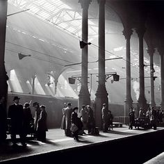 Liverpool Street Station, London by John Gay. Vintage London, Old London, London City, London History, British History, Old Train Station, Train Stations, Liverpool Street, Liverpool Uk