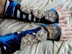 Gloves arm warmers steampunk victorian fairy alice in by radusport