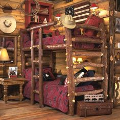 I would love to have those bunk beds in Kolts room!