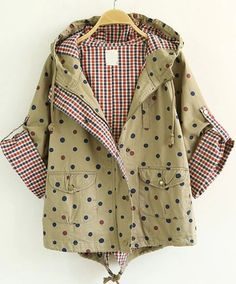 To find out about the Khaki Hooded Polka Dot Crop Coat at SHEIN, part of our latest Outerwear ready to shop online today! Blazer, Jackets For Women, Clothes For Women, Latest Street Fashion, Winter Outfits, Winter Fashion, Polka Dots, Fashion Dresses, Cute Outfits