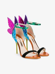 SOPHIA WEBSTER LEATHER 'CHIARA' SANDALS. #sophiawebster #shoes #sandals