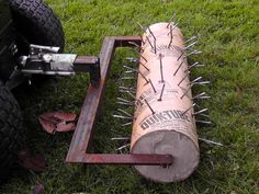 DIY Lawn Aerator DIY projects for everyone! is part of Diy lawn - Backyard Projects, Outdoor Projects, Garden Projects, Garden Tools, Farm Tools, Lawn Maintenance, Yard Care, Lawn And Garden, Lawn Mower