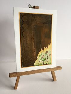 Mixed media card with rust