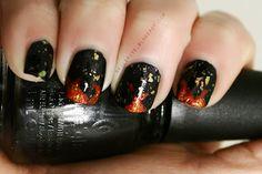 Hunger Games nail art! #manicure #nailart #thehungergames