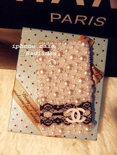 unique Samsung galaxy s3 Case-Pearl with black lace iPhone Case, cute iPhone 5 Cases-unique iPhone 4 Cases iPhone 4s Case-iPod touch 5 case. $22.00, via Etsy. Just got it