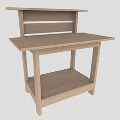 FREE Project Plan: Potting Bench