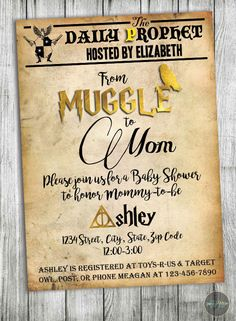 See More Harry Potter Inspired Baby Shower Invitations