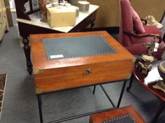 Occasional Table /Box - Item 1563-3.  Price $99.00    - http://takeitorleaveit.co/2017/06/25/occasional-table-box/