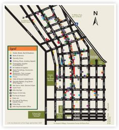 Walking Map of #LittleItaly in #SanDiego.  Take the trolley down to #LittleItaly station & head to our restaurants, view public art, shop & enjoy the sights!