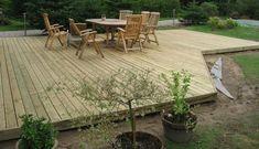 Det færdige resultat Backyard, Patio, Inspiration, Garden Ideas, Wood, Outdoor Decor, Terraces, Outdoors, Home Decor
