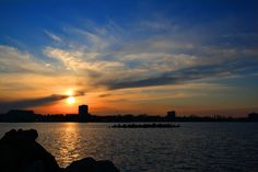 Sunset over Mamaia, Constanta Constanta Romania, Black Sea, Wonderful Places, Love Of My Life, Sunrise, Vacation, Country, Beach, Outdoor