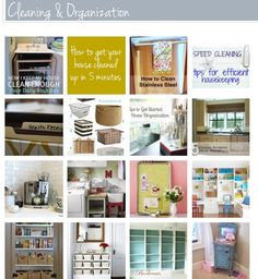DIY:: Tips & Tutorials {Organizing and Cleaning Your Home!}