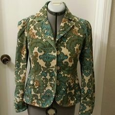 Anne Taylor Loft corduroy paisley print jacket, 4 This beautiful corduroy jacket is so cute very flattering! Only worn about 2 times, but I have way too many jackets and this little beauty just isn't getting enough love. Please take this gorgeous piece home! It's perfect for fall! Check out my closet for tons of classy items!  No trades. If you see something you like, I'm always open to negotiate, and I give discounts on all bundles! Thanks for looking and I appreciate your purchase LOFT…
