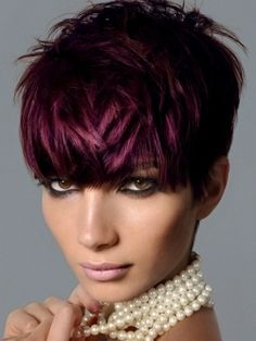 Oh wow, I love her hair. Since I can't sport short hair, this will have to be my second-in-line girlfriend.