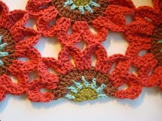 Once Upon A Pink Moon: Half Flower Tutorial - crochet pattern
