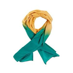 YELLOW AND TURQUOISE SCARF