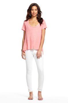 CP Shades Reba Hi-Low Tunic CAPRI Linen shirt top cover up Sleeveless blue NEW