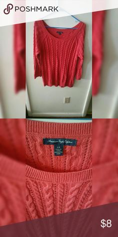 American Eagle Cable knit Sweater Pinky-coral color. American Eagle Outfitters Tops Blouses