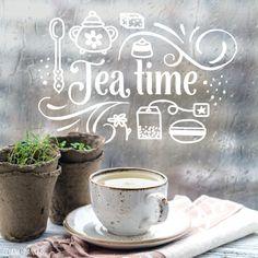 Niks is lekkerder dan een kopje thee met een koekje of gebakje, toch? Deze #raamtekening staat vast goed op je (keuken) raam! Ook geschikt voor lunchrooms en café's.