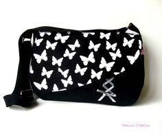 Sac besace, sac à main femme tissu imprimé papillons Butterfly 4 : Sacs bandoulière par tamini