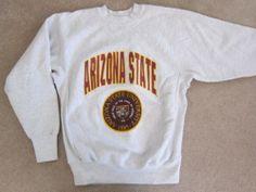 Arizona State University Gray Sweatshirt ASU Sun Devils Crable USA Medium