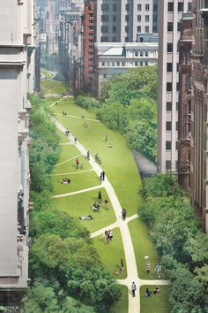 Architecture and engineering firm EDG's Loop NYC was a 2017 plan that proposed transforming New York roadways into public parks. Villa Architecture, Green Architecture, Architecture Portfolio, Architecture Diagrams, Urban Landscape, Landscape Design, Agriculture Durable, Green Corridor, New Urbanism