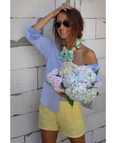 Blue & Yellow Outfit #Outfit
