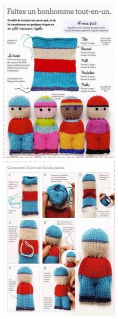 suspended Crochet and knit – Susann Scheffel Account suspended Crochet and knit – Susann Scheffel Amazing Tricks. - Jolly Tots - Small Knitted Dolls Knitting pattern by Dollytime Knitting For Kids, Loom Knitting, Free Knitting, Knitting Projects, Baby Knitting, Sewing Projects, Knitting Patterns Free, Knitting Ideas, Knitting Designs
