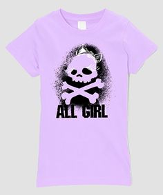 Another great find on #zulily! Lilac 'All Girl' Tee - Infant, Toddler & Girls by Micro Me #zulilyfinds