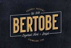Bertobe - Layered Font (40% OFF) by Stringlabs Type on @creativemarket