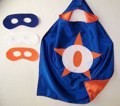 Personalized, CUSTOMIZED, Double Sided with MASK  Superhero Party CAPES for Kids by CupcakeCutieKids on Etsy https://www.etsy.com/listing/150891396/personalized-customized-double-sided