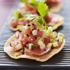 "Tuna Tataki Crisp - ELITE STREET TREAT ""We've taken traditional Asian street fare and melded it with P.F. Chang's renowned emphasis on freshness and taste, bringing you a new twist on tacos"""